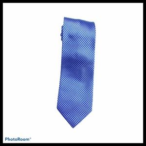 Rooster 100% silk Hand Sewn Blue Tie